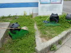 Gardening frogs from fishing floats (Stop carbon pollution) Tags: japan  honshuu  okayamaken  naoshima  setouchiarttriennale