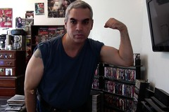 MEDICAL Day, BICEP FLEX. (Jonathan C. Aguirre) Tags: photobooth biceps muscles flexing arms arm fetish guns blood draws tests needles strong