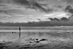 Oregon Coast 9/10 (mfhiatt) Tags: dscf96370716bwjpg oregon coast beach newport silhouette blackandwhite 100xthe2016edition 100x2016 image59100