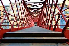 EL puente (osruha) Tags: girona gerona espaa espanya spain puente pont bridge hierro ferro iro color colour estructura structure urbano urb urban arquitectura architecture nikon d750 flickr