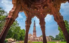 Qutub Minar (2/2) (Adithya Ganesan) Tags: qutub minar delhi new canon eos 1018 wideangle travel colors 2016