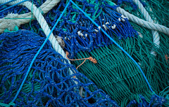Nets 2 (S's images) Tags: blue green fishing nets abstract brixham harbour knots
