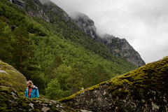 Rauma Segments (Serious Andrew Wright) Tags: norway andalsnes rauma trollveggen moreogromsdal romsdalen trees geometry lines segment segmentation triangle moss lichen rocks riverbank