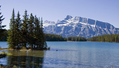 Two Jack Lake (LunaticDesire) Tags: canada canadian ca northamerica north america western westerncanada therockymountains rockymountains rocky mountains moosetravel travel traveling exterior photography nikon d40 dslr 18105 may 2016 spring twojacklake two jack lake water scene waterscape landscape mount rundle alberta banff nature wild wilderness
