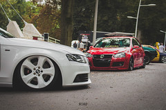 Audi A4 Golf 5 (NiCo_702) Tags: audi a4 golf 5 stance stanced low lowered vag dates rethel tuning bagged bagg air ride bmw wheels white red