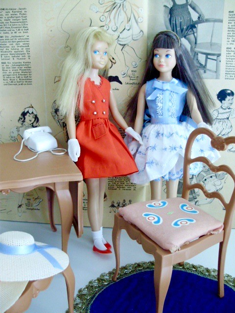 Vintage Barbie Dining Room Go Together Furniture Mattel S