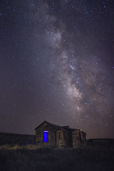 blue window (Karol Franks) Tags: house abandoned bodie ghost town california sky night milkyway summer stars longexposure roadtrip easternsierras