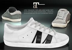 Maitreya Low Sneakers 2 (onyx leshelle) Tags: secondlife sl shoes sneakers maitreya meshbody meshavatar maitreyalara mesh onyxleshelle footwear fittedmesh larameshbody
