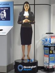 Blade Runner-esque ... (Dunkoman) Tags: uk england airport birmingham bladerunner hologram security projection