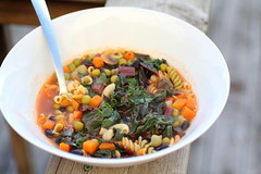 Swiss Chard (Adventuress Heart) Tags: soup health minestrone swisschard