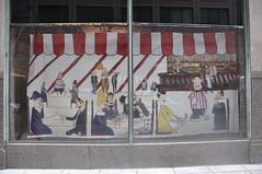 (dont fret) Tags: street chicago art carson paper scott ed graffiti downtown loop paste wheat dont popup fret hopper 2012 nighthawks pirie