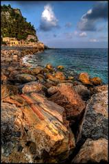 Varigotti (Gottry) Tags: sunset sea italy panorama landscape nikon italia tramonto mare liguria wide rinaldi hdr emanuele varigotti d90 polarizzatore polaryzer erphotos