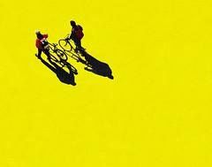 Tornando a casa (meghimeg) Tags: shadow sun bike yellow ombra gelb giallo bici sole bikers sanremo 2011 ciclisti