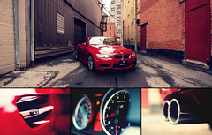 BMW M3 (Evano Gucciardo) Tags: city red urban newyork detail car composite ally stitch euro interior naturallight rochester german commercial bmw m3 rev tones exhaust gauges rpm brenzier