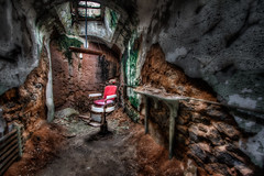 Haircut in the Hub (Theaterwiz) Tags: philadelphia pennsylvania ghost haunted esp easternstatepenitentiary criswell rustyandcrusty penitentiary urbex easternstate promote photomatix 11exposures promotecontrol promoteremotecontrol theaterwiz theaterwizphotography