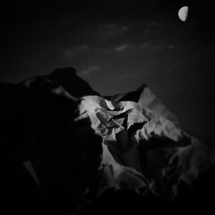 crumpled paper sack mountains, lit by flashlight (Photomaginarium) Tags: canon gimp powershot odc replace walkingonthemoon litbyflashlight ourdailychallenge geekbehindthecurtain crumpledpapersack papersackmountains photomaginarium digitalagerecessionerafolkart