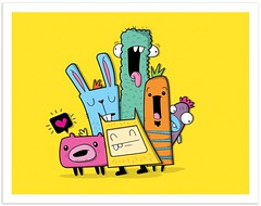 it was all yeller. (dzingeek) Tags: monster illustration crazy colorful character cartoon creative illustrations doodle monsters cartoons dzingeek
