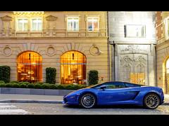 Lamborghini Gallardo LP560-4 bicolore (GL photographie) Tags: paris france canon 1750 arabian tamron lamborghini monterrey supercar hdr spotting gallardo sportcar fouquets bicolore gskill 60d worldcars lp5604