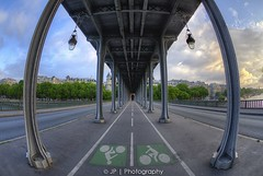 (  II  ) (J P | Photography) Tags: life sea wallpaper sky sun fish paris sunrise lens french photography nikon angle ps fisheye jp pont 28 franais hdr parisian hdri lever birhakeim pontbirhakeim parisienne 105mm parisien inception leverdusoleil oeildepoisson jpphotography d7000