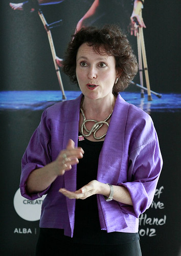 A speaker at the LOCOG Drinks Reception at the Point Hotel, Edinburgh