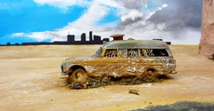 """""""Life's End"""" Post Apocalyptic Diorama: Plus How It Was Created: Matchbox Lesney Mercedes Benz """"Binz"""" Ambulance No.3 1967 - 127 Of 266 (Kelvin64) Tags: life toy toys was mercedes benz corgi sand desert post it ambulance created end 1967 plus majorette diorama matchbox apocalyptic dioramas binz dinky diecast lesney no3 lifesend"""