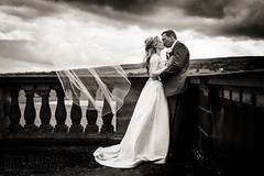 Denton Hall Wedding Photographer (Pete Barnes Photography) Tags: wedding blackandwhite love clouds happy photography mono moody photographer contemporary country professional denton ilkley informal weddingphotography dentonhall petebarnes weddingphotogapher
