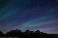 "Northern Star Lights over Grand Tetons (IronRodArt - Royce Bair (""Star Shooter"")) Tags: sky usa mountain nature night america dark stars star evening twilight shiny long exposure heaven glow shine nightscape time dusk infinity space deep twinkle astro sparkle galaxy astrophotography planet astronomy grandtetons teton universe exploration range cosmic starry cosmos meteor constellation distant bigdipper nightscapes starrynight polaris tetonrange starlight northstar grandtetonnationalpark starrynightsky"