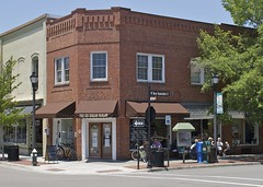 THE ICE CREAM PARLOR (NC Cigany) Tags: street people signs hydrant restaurant store nc downtown bricks icecream 1098 southernpines 20120627