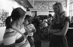 (Josh Sinn) Tags: show blackandwhite bw film college senior 35mm campus photography child kodak tmax mother ceremony commons reception 400 awards canonae1p umbc universityofmarylandbaltimorecounty joshsinn joshuasinn