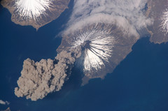 NASA Photo of Cleveland Eruption of Volcano in the Aleutian Islands (fluxdepot) Tags: earth satellite smoke aerialview aerial nasa eruptions eruption billow plume fromspace billowing satelliteview eruptingvolcano vocano earthfromspace aleutianislands clevelandvolcano eruptingvolcanoes eruptionofclevelandvolcano