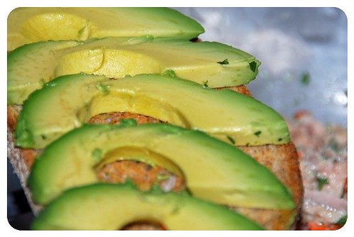 Sliced Avocado --- yum yum ;)
