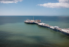 brighton pier from above (lomokev) Tags: sea sky cloud seascape skyline canon buildings eos pier seaside brighton 5d bigwheel brightonpier palacepier canoneos5d brightonwheel file:name=120516eos5d8619