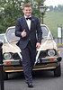 Gordon D'Arcy, who drove to the ceremony in a vintage Honda Civic The wedding of model Aoife Cogan and rugby star Gordon D'Arcy, held at St. Macartan's Cathedral Monaghan, Ireland