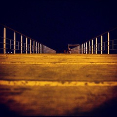 Pier! (steliosgiorgio) Tags: beach night square pier cyprus squareformat larnaca finikoudes   iphoneography instagramapp xproii uploaded:by=instagram foursquare:venue=4c1fc73a63750f4795a7bb67