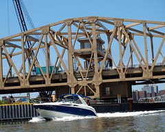 Willis Avenue Bridge over the Harlem River, Manhattan-Bronx, New York City (jag9889) Tags: new nyc bridge newyork puente crossing bronx harlem manhattan bridges swing bin ponte kayaking pont brcke waterway 2012 movable harlemriver willisavenue nycdot willisavenuebridge weeksmarine bin bridgeidentificationnumber kiewitcorp replacementbridge jag9889 k031 2240059 2240059 y2012