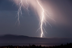 Lightning over San Juan Island! (C McCann) Tags: usa canada storm west vancouver island islands coast washington san mt bc juan columbia victoria mount strike british lightning cb tcu electrical strikes strait saanich tolmie haro canadathunderstorms