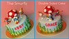 Smurfs / Mushroom Cake (Sweet Treats by Cristy) Tags: birthday flowers party baby house cute mushroom cookies grass cake kids garden movie children cupcakes cookie miami fiestas event cupcake figurines smurf custom smurfs torta dulce cristy fondant buttercream girlboy hialeah sweettreatsbycristy