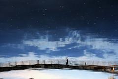 En quilibre (Cathy Baillet) Tags: sky france reflection silhouette clouds canon eos eau pont nuage bourgogne 2012 auxerre yonne relet paulbert relftes