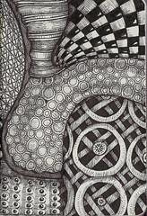 A Peek into the Machine (molossus, who says Life Imitates Doodles) Tags: habana quovadis zentangle exaclair zentangleinspiredart
