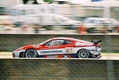 Scuderia Ecosse Ferrari F430 GT2 GT2 (Moments of Yesterday) Tags: france film 35mm 2006 mans le hours 24 amateur francais sarthe