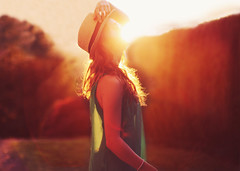 Burning down. (Jessica Christ) Tags: sunset selfportrait girl self lenseflare golden hour goldenhour sunflare selfie