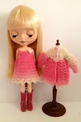 Slip dress and Lacey coat set