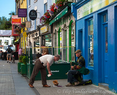"In Galway's ""musical"" streets (1) (filipmije) Tags: street ireland musician galway shop restaurant pub clare colours streetartist"