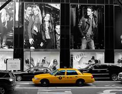 Cab (milopisani_91) Tags: cab taxi nikon nyc newyork ny blackandwhite