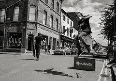 Skateboarders-Manchester. (Keith Vaughton) Tags: blackandwhite manchester mono northernquarter streetphotography skateboarders x100t fujix100t keithvaughton