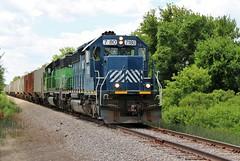 Metamora-Bound (BravoDelta1999) Tags: indianaandohio iory railroad detroittoledoandironton dti railway delta ohio emd sd402 hlcx 7180 grain train