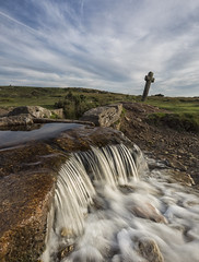 Beckamoor Cross (Brian-Leach) Tags: beckamoor cross windy post dartmoor devon merrivale evening august leat
