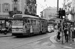 Milano (22) (Pier Romano) Tags: milano citt city milan lombardia metropoli strada street tram biancoenero blackandwhite monocromo monochrome italia italy centro center