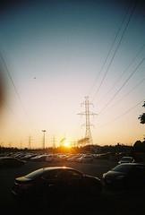 F10 (takeitslowlyy) Tags: film 35mm kodak toronto canada finch sunset cablelines