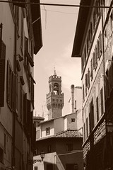Old times in Florence (andrea.guidetti) Tags: italia italy toscana tuscany florence firenze torre tower sepiaimpressions sepia seppia oldtime streetphotography